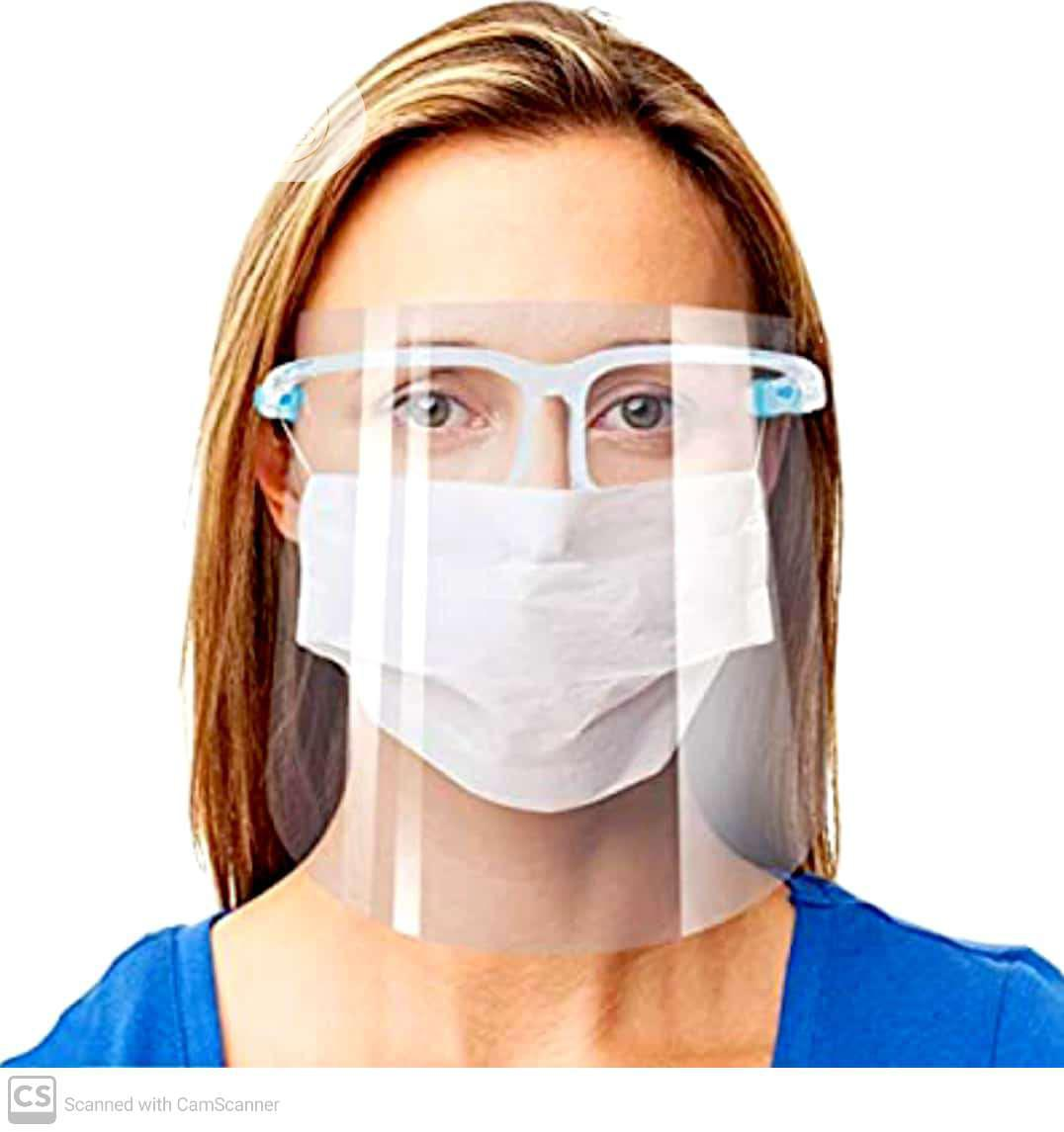Archive: Reuseable Face Shields With Transparent Frames