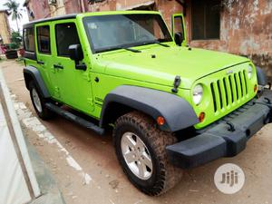 Jeep Wrangler 2013 Unlimited Sport Green | Cars for sale in Lagos State, Isolo