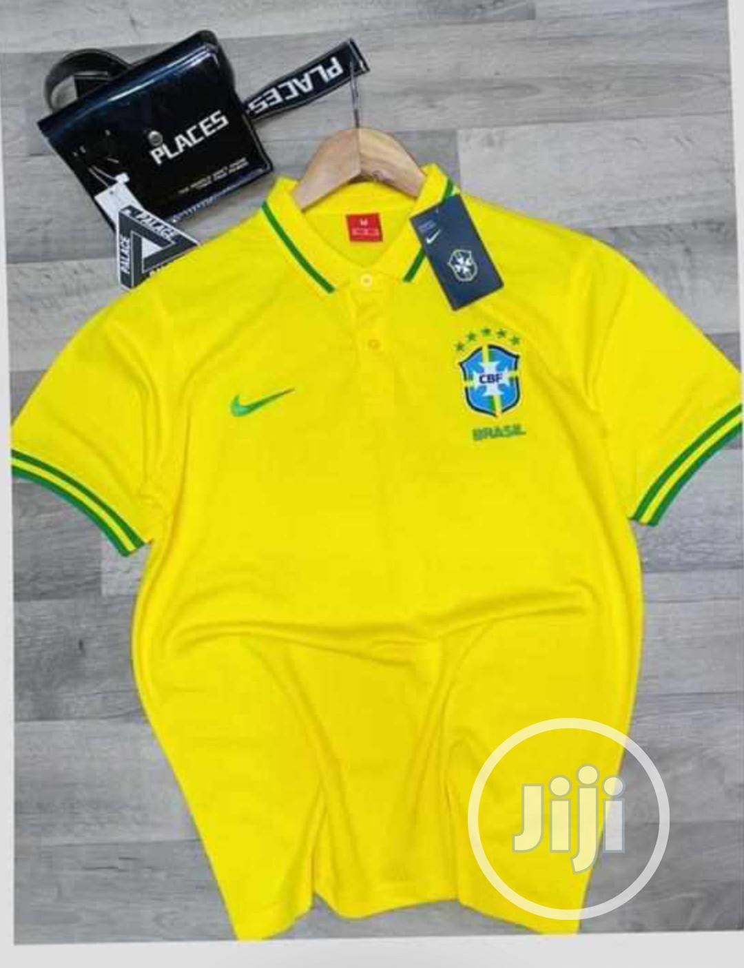 Brazil Official Yellow Polo Shirt.