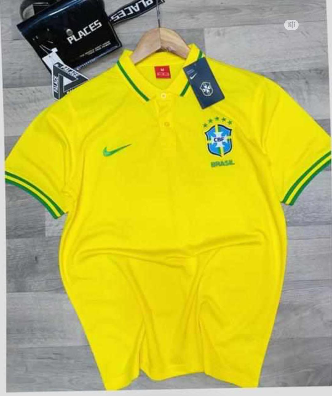 Brazil Official Yellow Polo Shirt. | Clothing for sale in Surulere, Lagos State, Nigeria