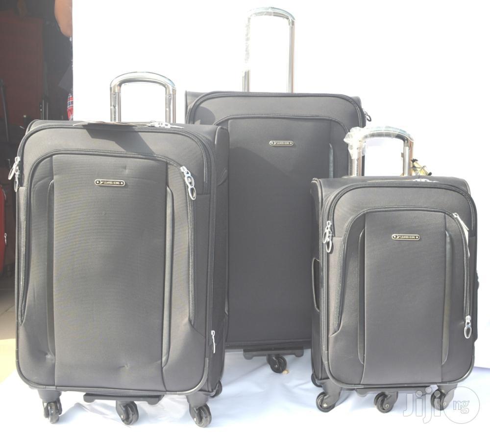 5 Wheel Leaves King Flat Handle Luggage
