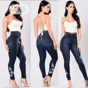 Embroidery Print High Elasticity Women Long Jeans   Clothing for sale in Lagos State, Ajah