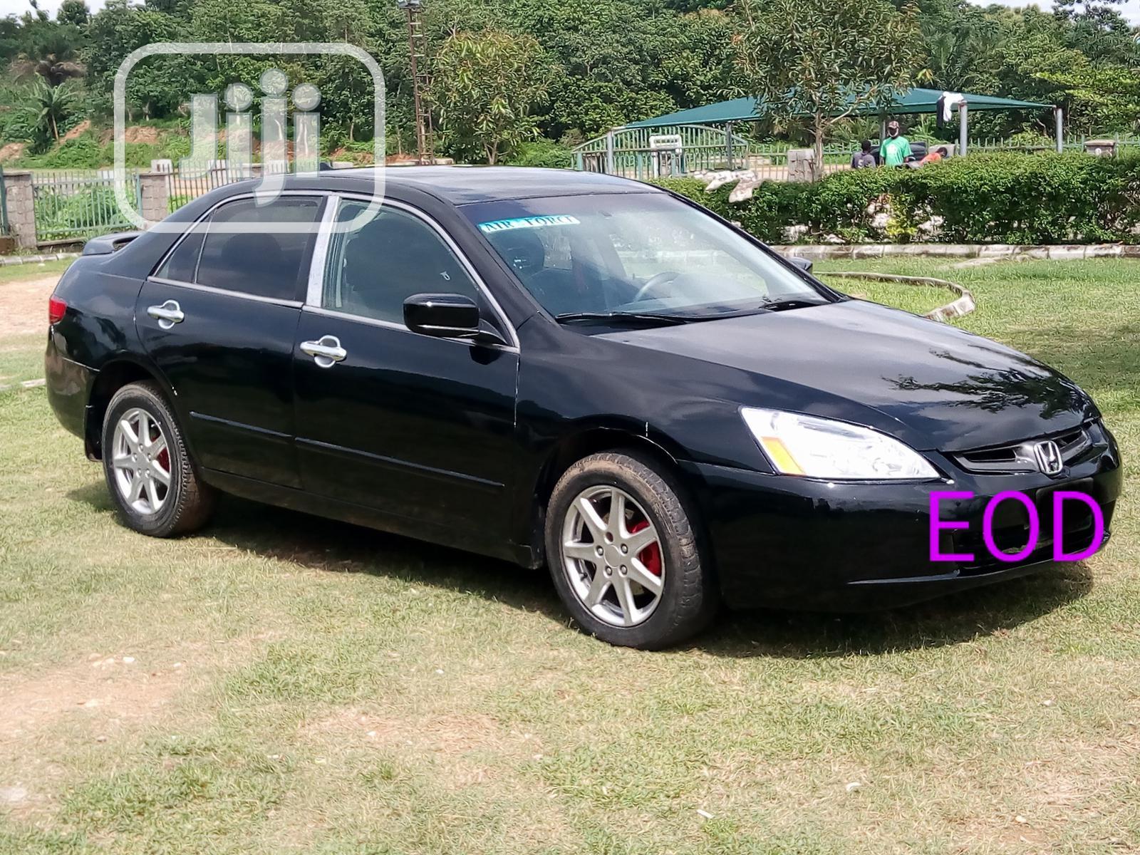 Honda Accord 2005 Sedan LX V6 Automatic Black   Cars for sale in Wuye, Abuja (FCT) State, Nigeria
