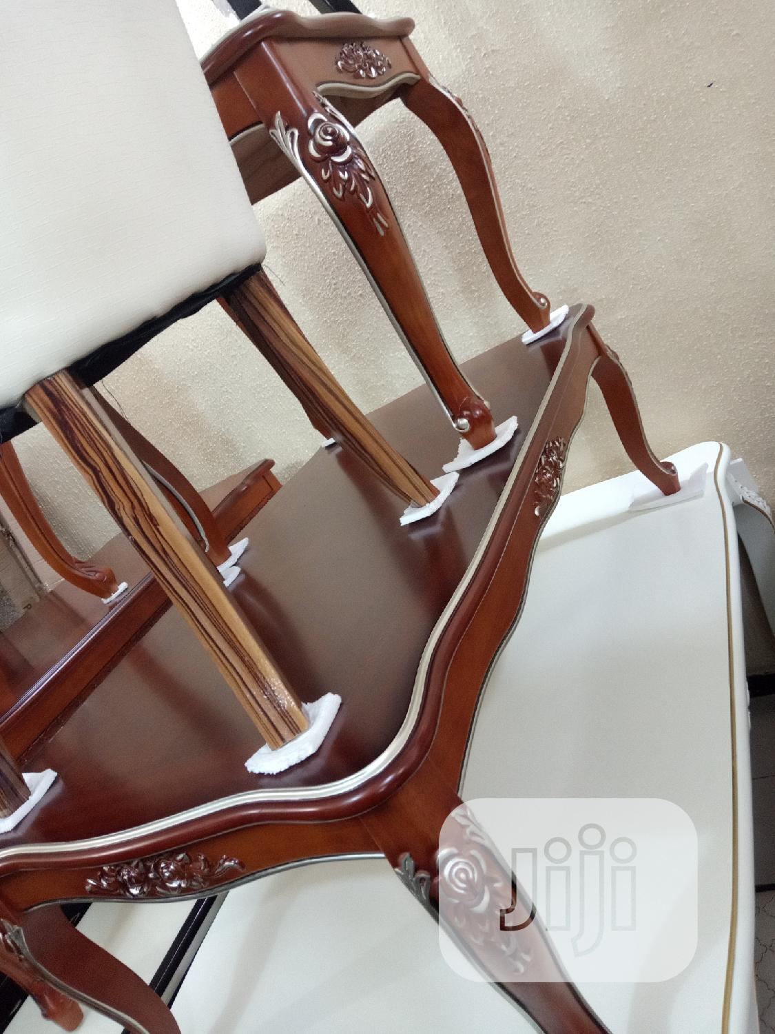 Archive: Wooden Center Table With Two Side Stools.