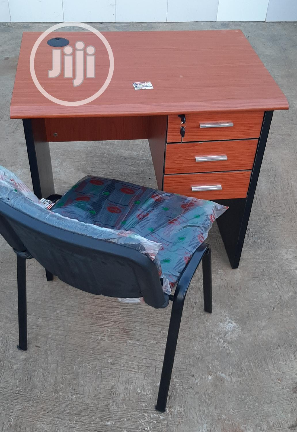 3ft Office Table With Armless Chair