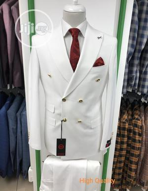 White Double Breasted Suit   Clothing for sale in Lagos State, Yaba