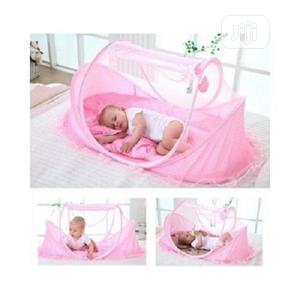 Happy Baby Baby Bed With Net Pop Up Style Dotted - Pink | Children's Furniture for sale in Lagos State, Surulere