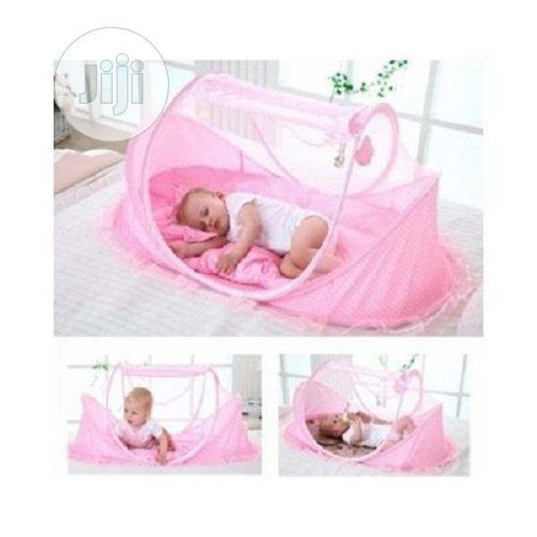 Happy Baby Baby Bed With Net Pop Up Style Dotted - Pink
