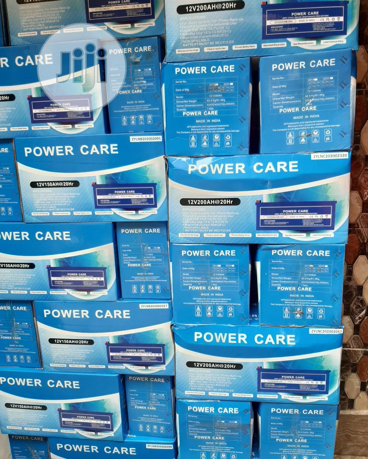 Archive: 12V 200ah Power Care Solar Battery