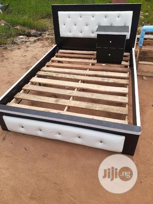 4.5 By 6 Bed Frame With Side Drawer   Furniture for sale in Lagos State, Ojo