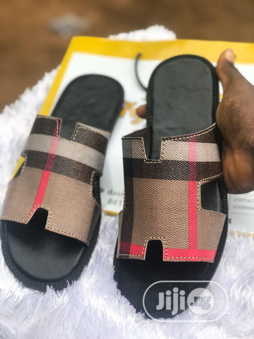 Burberry Hermes Slides | Shoes for sale in Lagos Island, Lagos State, Nigeria