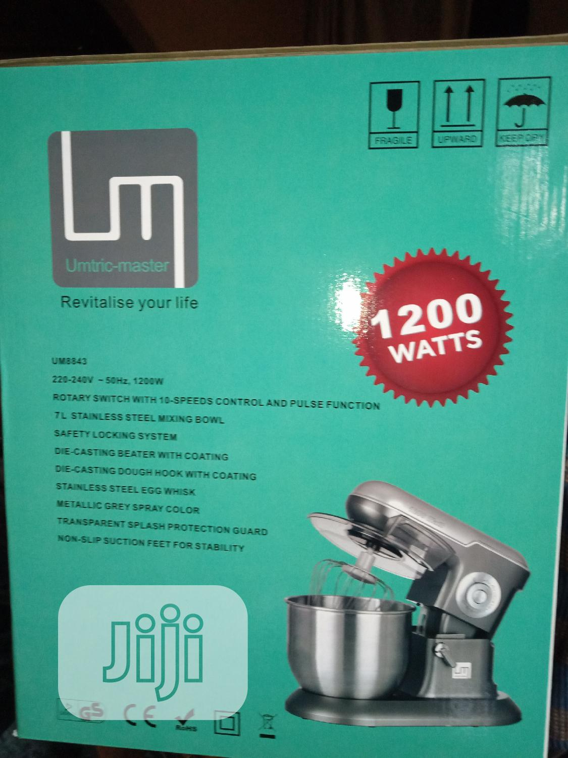 Umtric Master 7litres Stand Mixer,1200watts,10speed, Pulse. | Kitchen Appliances for sale in Ojo, Lagos State, Nigeria