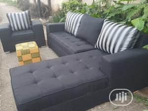 Modern Design L Shape With Single Ottoman   Furniture for sale in Lagos State, Ikorodu