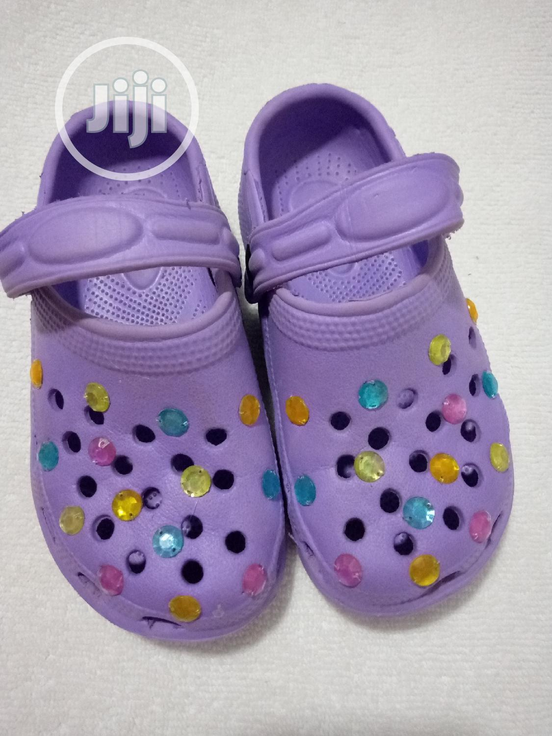 Archive: Bejeweled Purple Clogs
