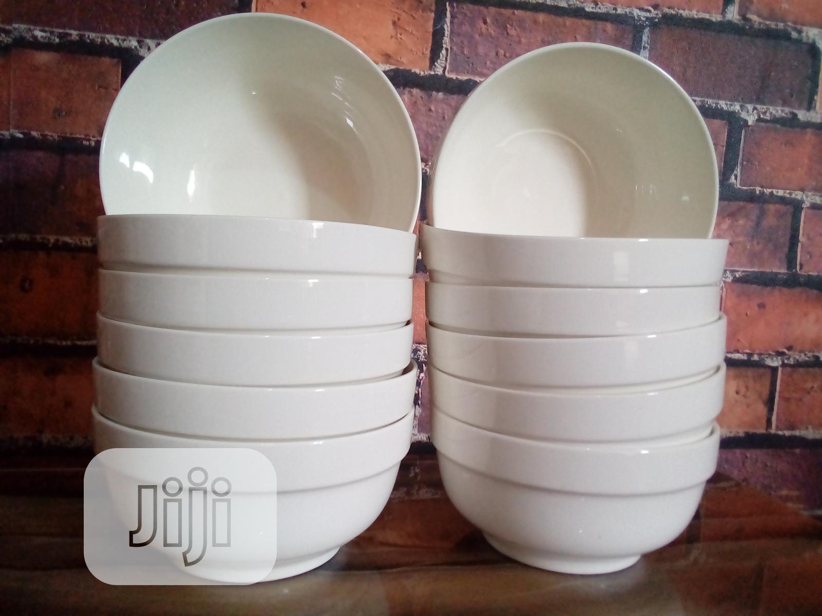12pcs Porcelain Ceramic Soup Bowls
