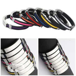 Stainless Steel Silicone Unisex Bracelet | Jewelry for sale in Lagos State, Oshodi