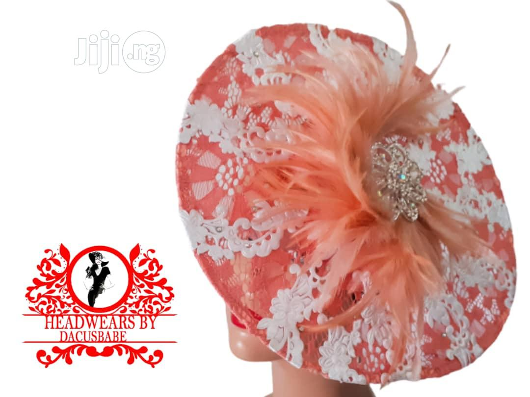 Peach Beautiful Fascinator