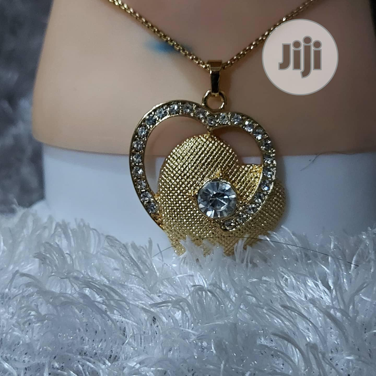 Two Hearts Shaped Set (Earrings and Pendant) | Jewelry for sale in Ikotun/Igando, Lagos State, Nigeria