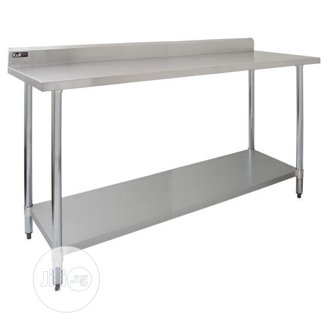 Archive: Stainless Steel Table With Back Splash