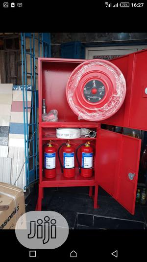 Cabinet With Hose Reel And Fire Extinguisher | Safetywear & Equipment for sale in Lagos State, Orile