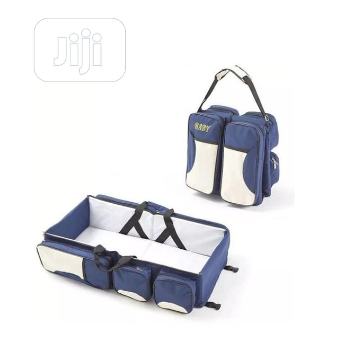Archive: Baby Diaper Bag And Travel Cot - Mother Care - Navy Blue