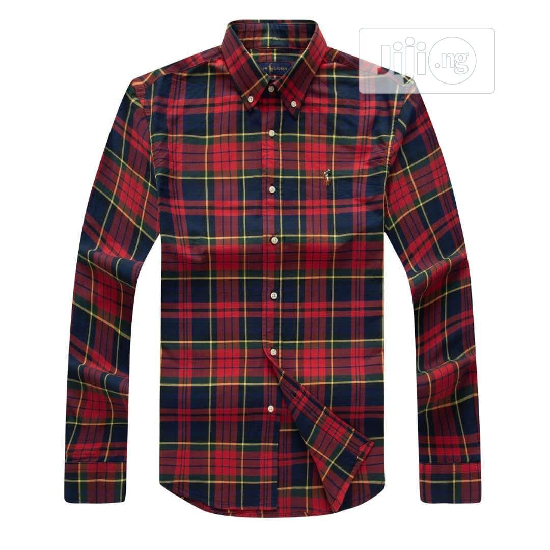 NEW Polo Ralph Lauren Designer Check Shirt. Best Quality | Clothing for sale in Lagos Island (Eko), Lagos State, Nigeria