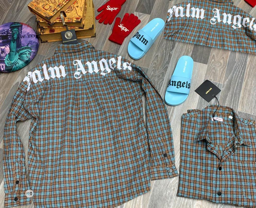 Archive: Gray Palm Angels Long Sleeve Shirt