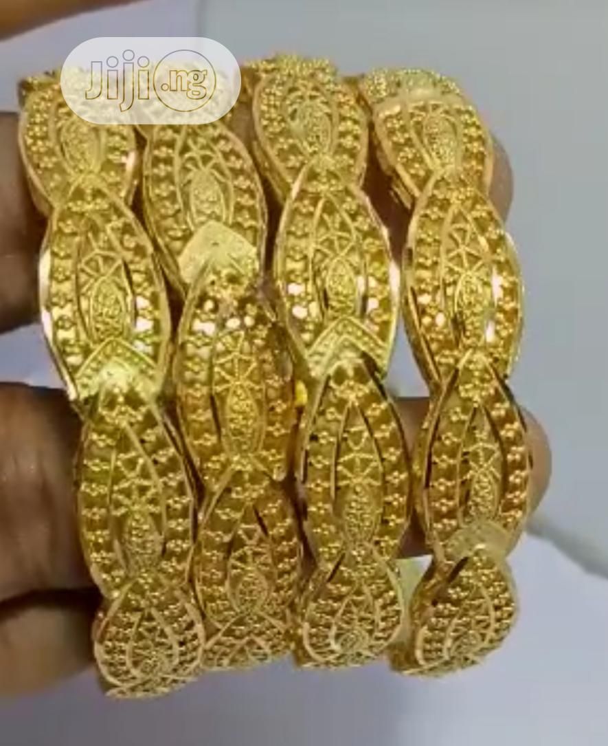 Gold Plated Bangles | Jewelry for sale in Wuse 2, Abuja (FCT) State, Nigeria