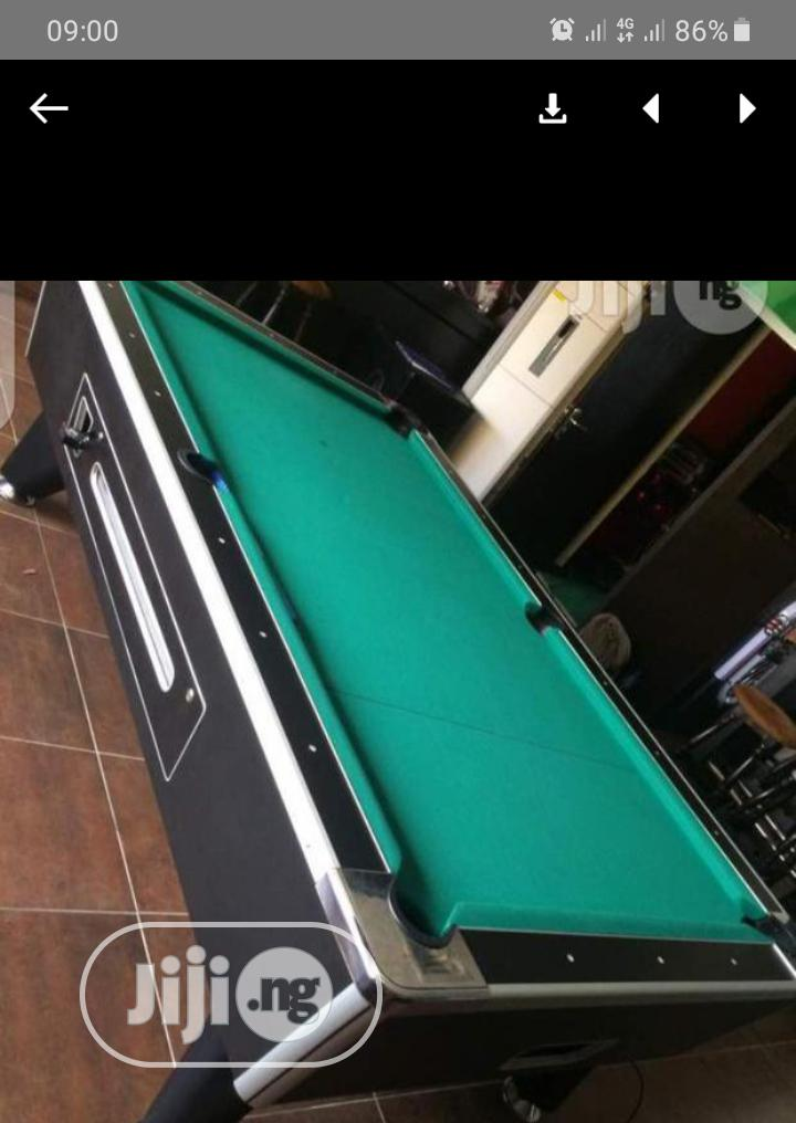 Marble Coins Snooker Board With Accessories. American