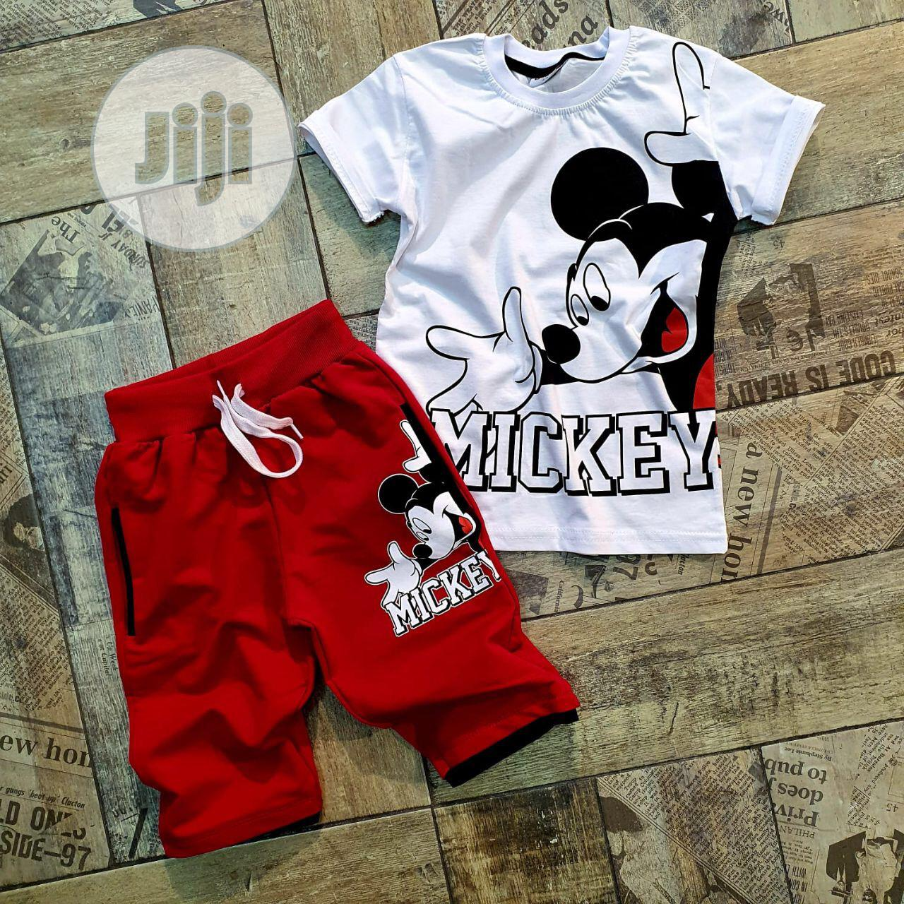Mickey Mouse Top and Short Age 2 -6years