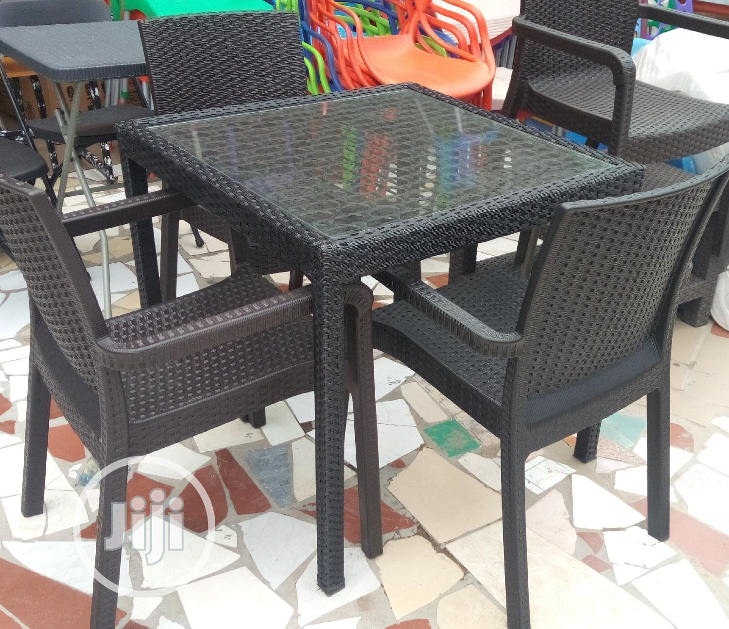 Awesome 4 Seater Cane Table and Chair Brand New