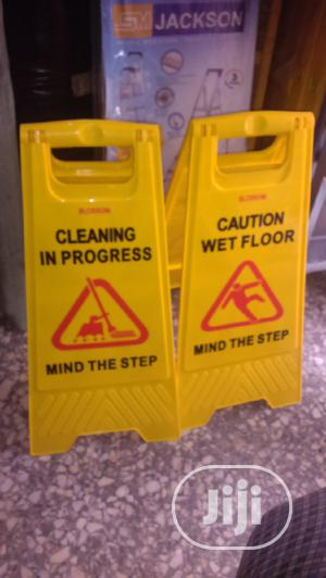 Cleaning Caution Sign | Safetywear & Equipment for sale in Abuja (FCT) State, Utako