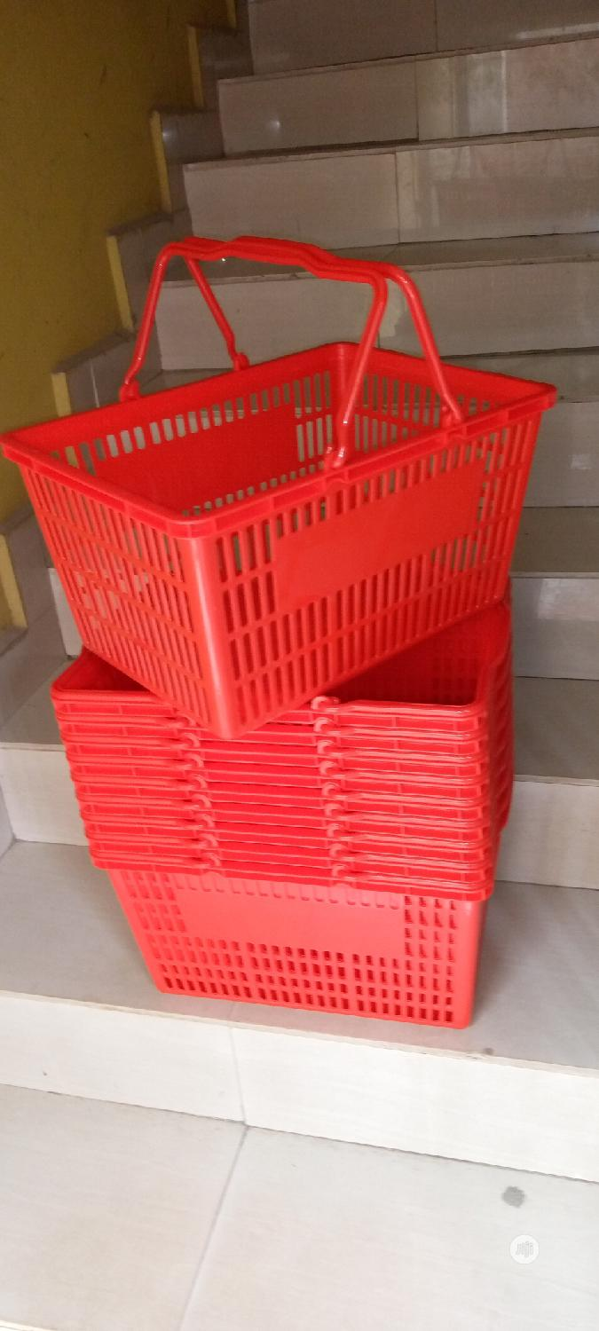 Red/Black Shopping Baskets For Shopping