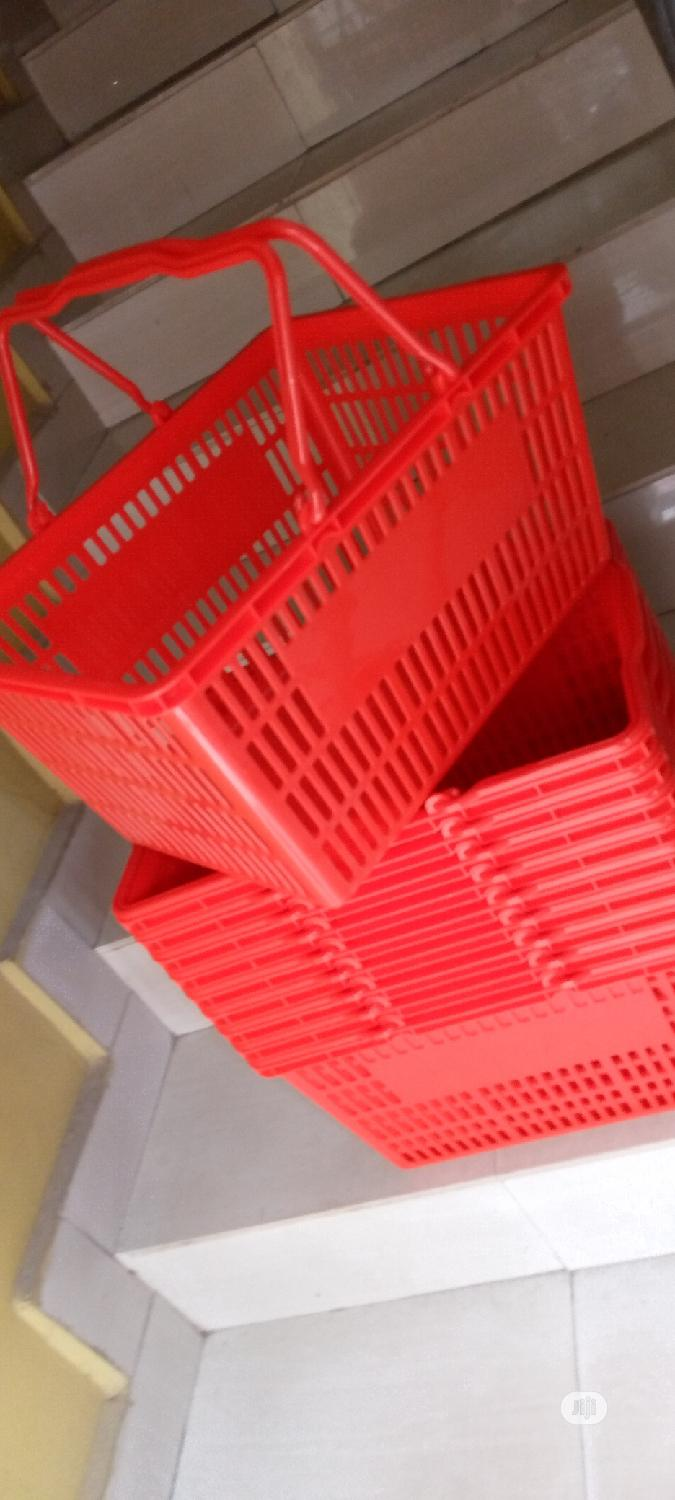 Red/Black Shopping Baskets For Shopping   Store Equipment for sale in Ikorodu, Lagos State, Nigeria