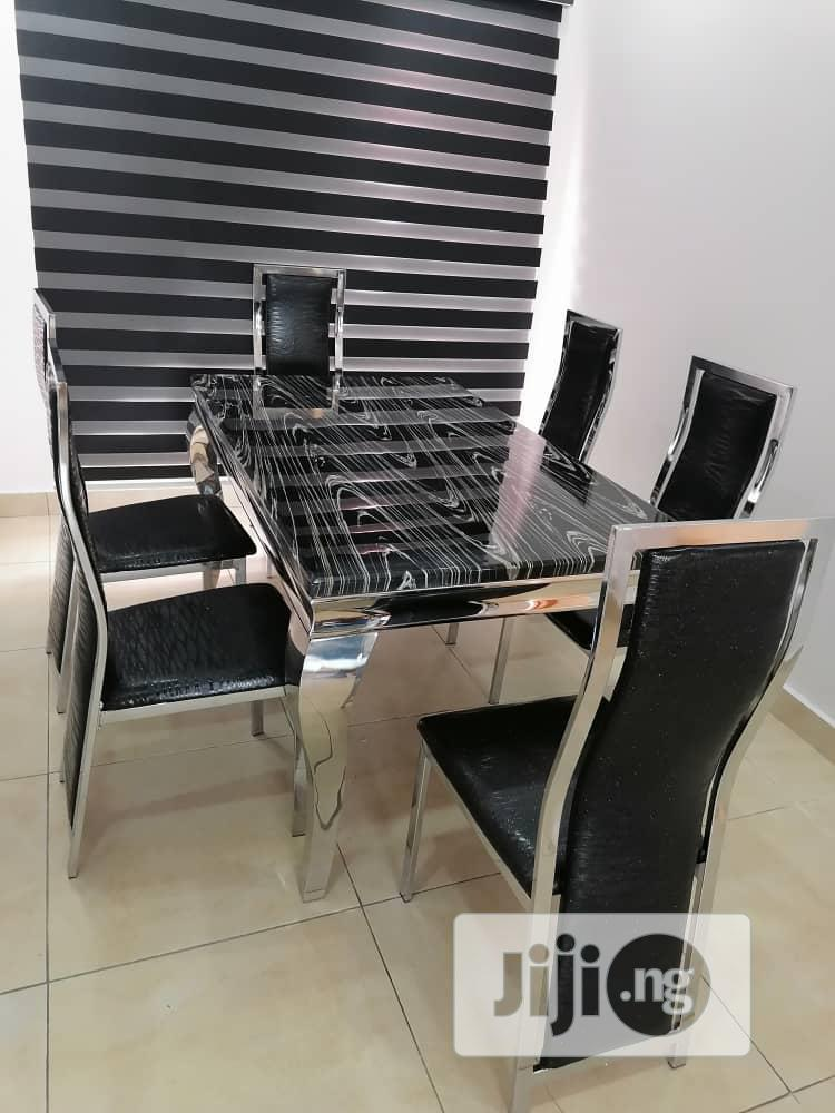 High Quality and Durable Marble Dining Table Set. 6 Seater.