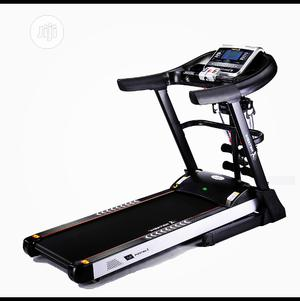 4hp Body Fit Treadmill With Massager and Dumbbell | Sports Equipment for sale in Lagos State, Surulere