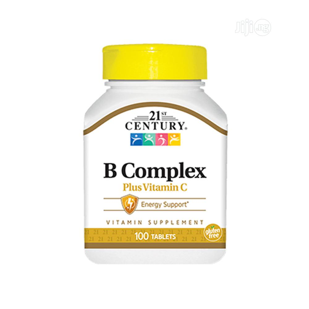 Natural B Complex With Vitamin C, Gluten Free, 100 Tabs