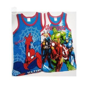 3pcs Cartoon Characters Boys Colourful Singlet | Children's Clothing for sale in Lagos State, Surulere