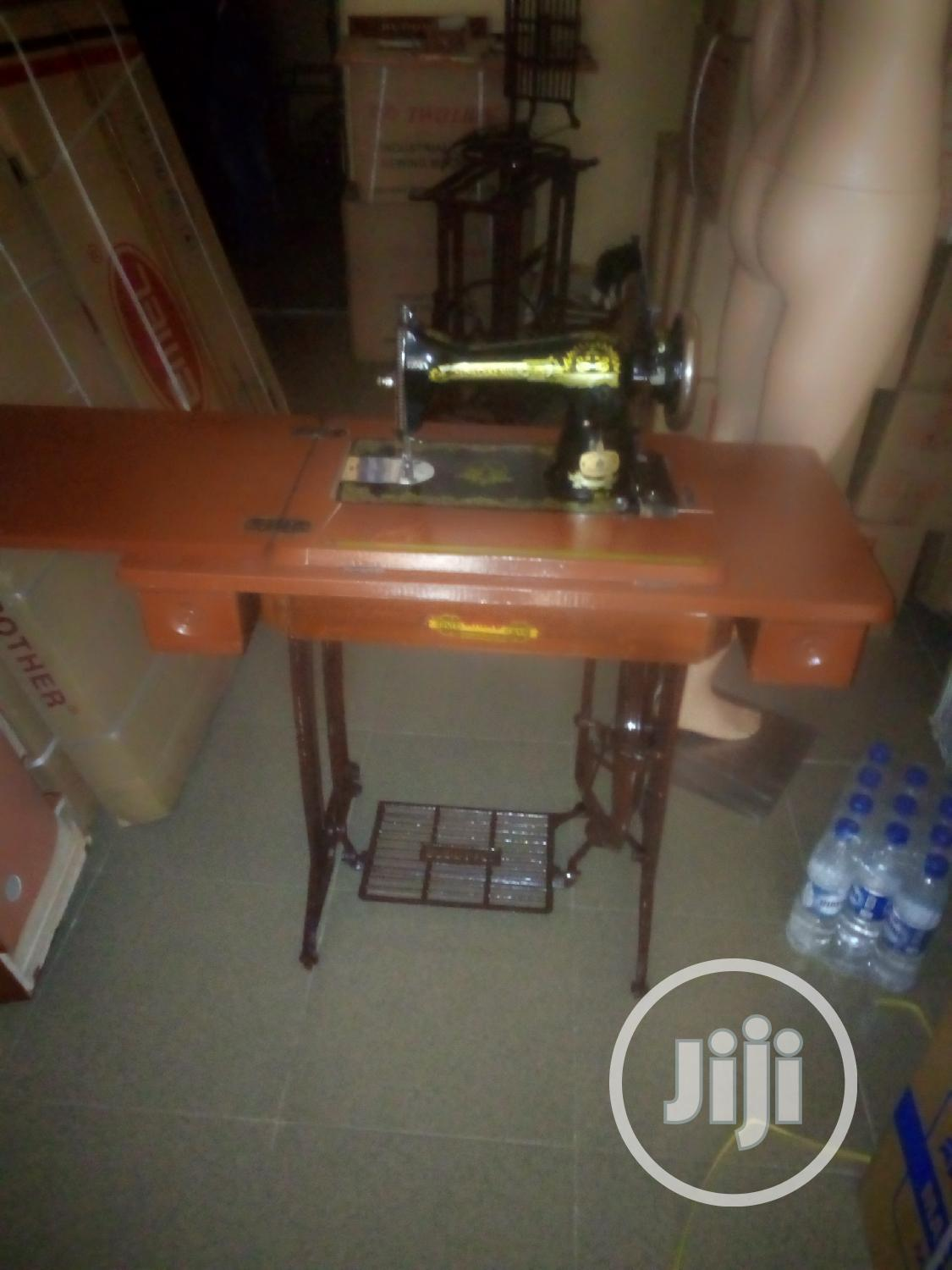 Original Butterfly Dmstic Sewing Machine On Folding Table