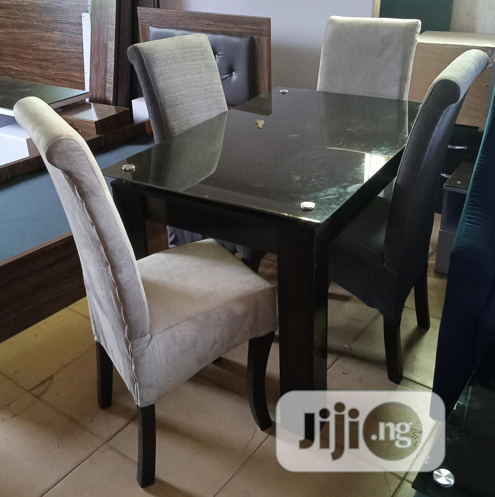 Dining Set Of 4 Chairs And Glass Table