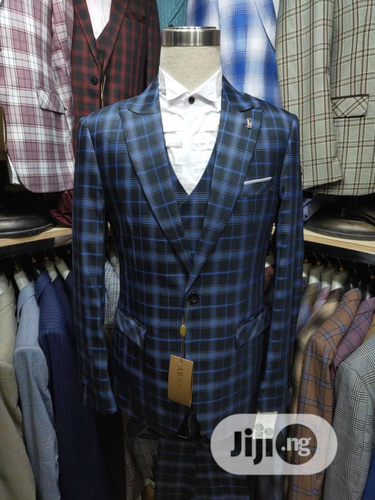 Men's Checked 3 Piece Suits