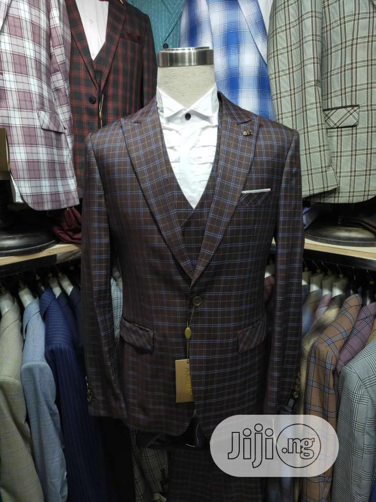 Men's Checked 3 Piece Suits | Clothing for sale in Lagos Island (Eko), Lagos State, Nigeria