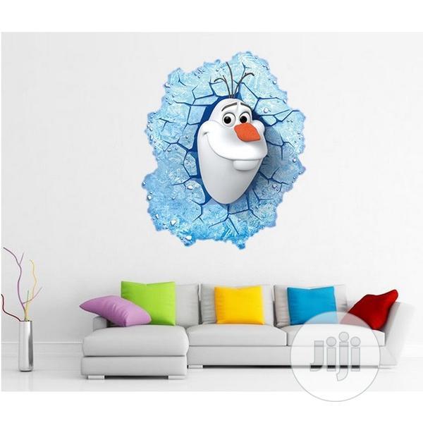 Archive: Cartoon Frozen Snow Treasure 3D Wall Sticker(60cm By 46cm)