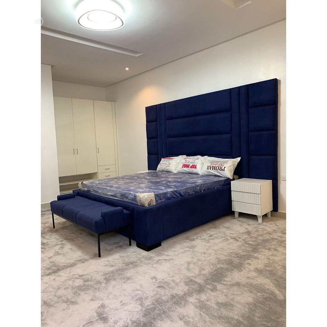 Blue Shade Bedframe   Furniture for sale in Apapa, Lagos State, Nigeria