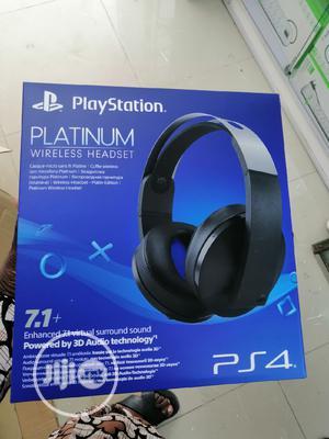Sony Ps4 Platinum Wireless Headphone | Headphones for sale in Lagos State, Ikeja