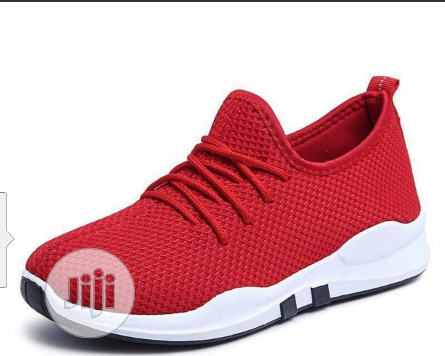 Promo Price Red Sneakers Breathable Comfy