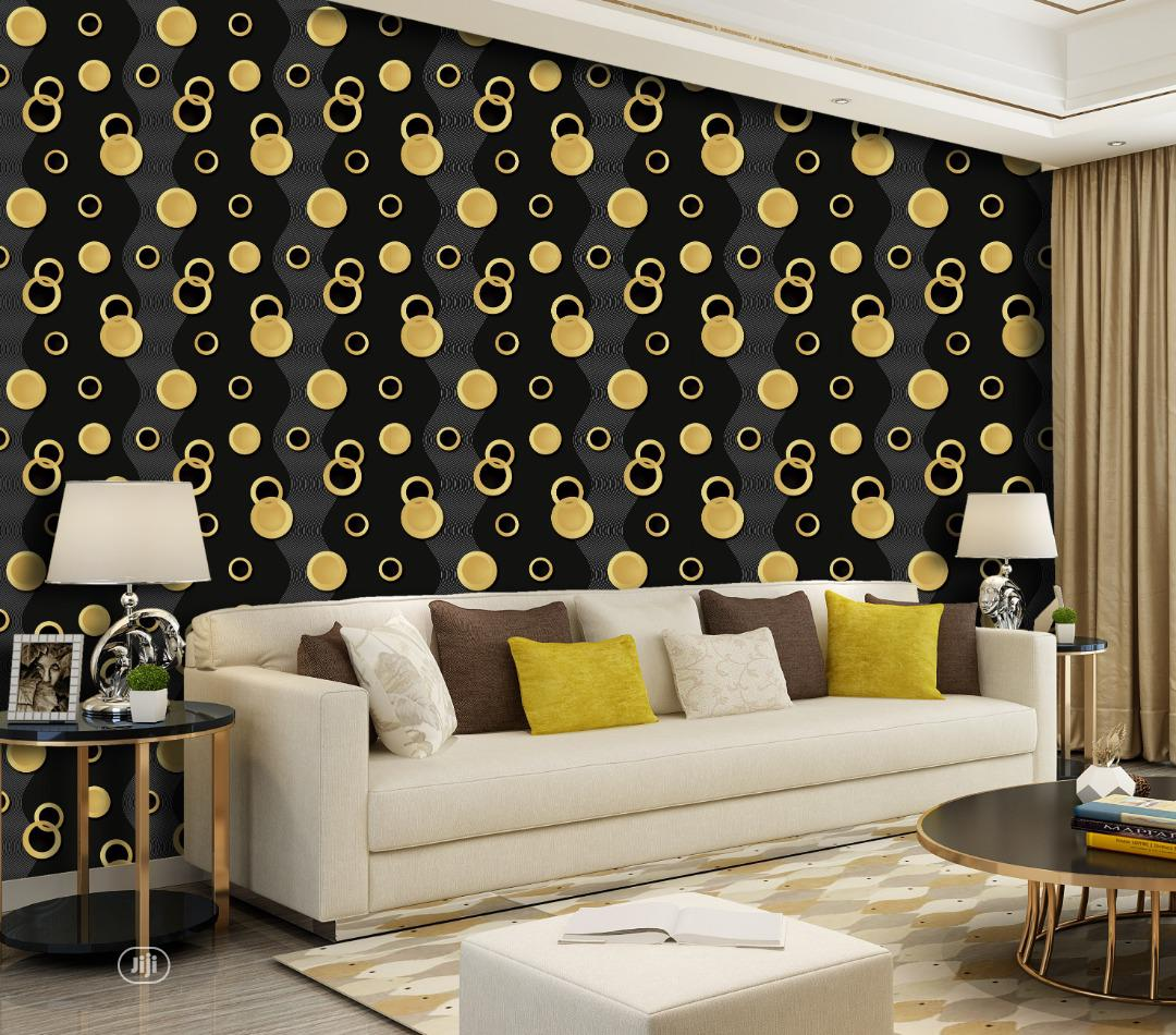 Archive: Black and Gold Classic Wallpaper for Sale