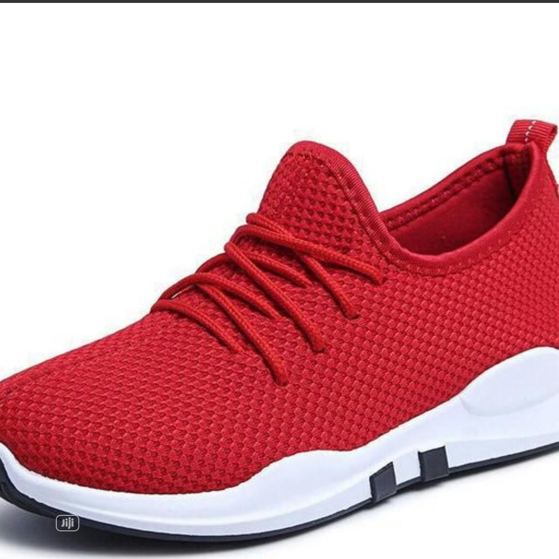Promo Price Red Sneakers Breathable Comfy | Shoes for sale in Agege, Lagos State, Nigeria