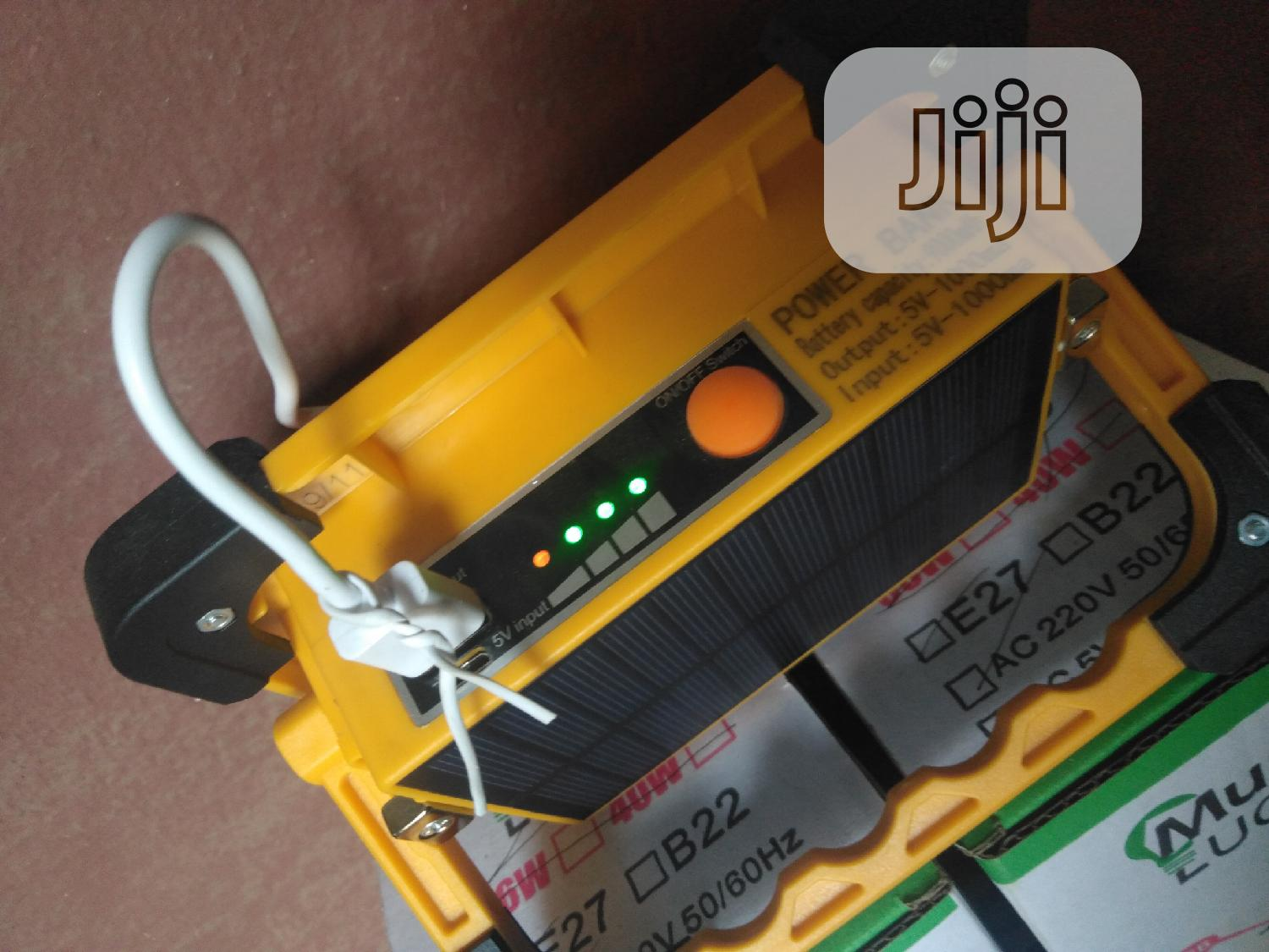 Solar Power Bank and Flood Light Available