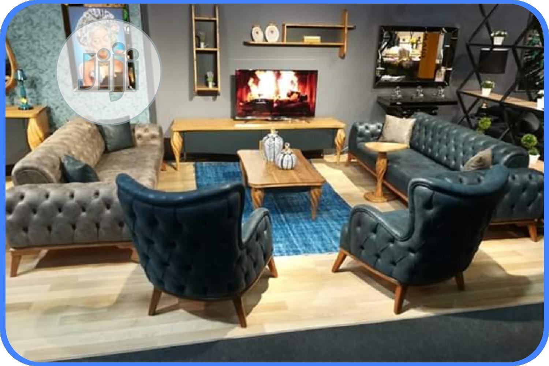 Set Of Executive Leather Sofa